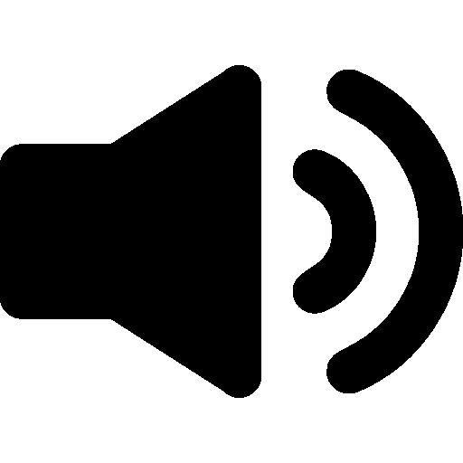 Speaker interface audio symbol Icons.
