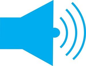 Clipart speaker icon.