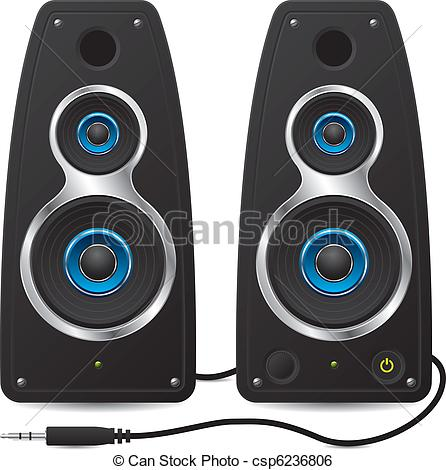 Stereo speakers clipart.