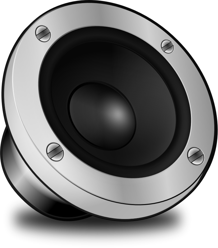 Audio speakers clipart.