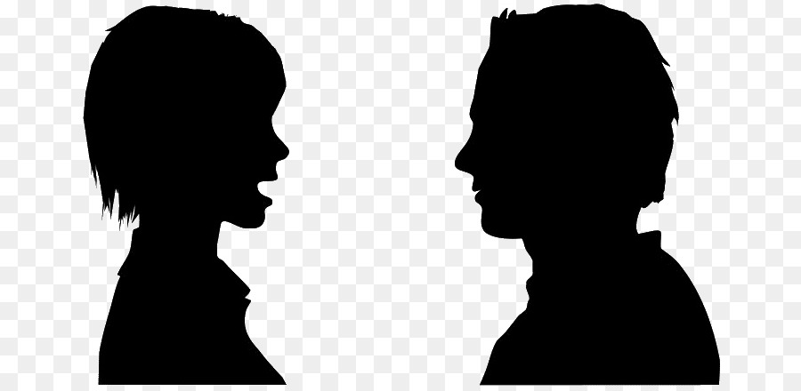 Conversation Silhouette png download.