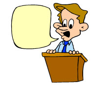 Public speaking clip art.