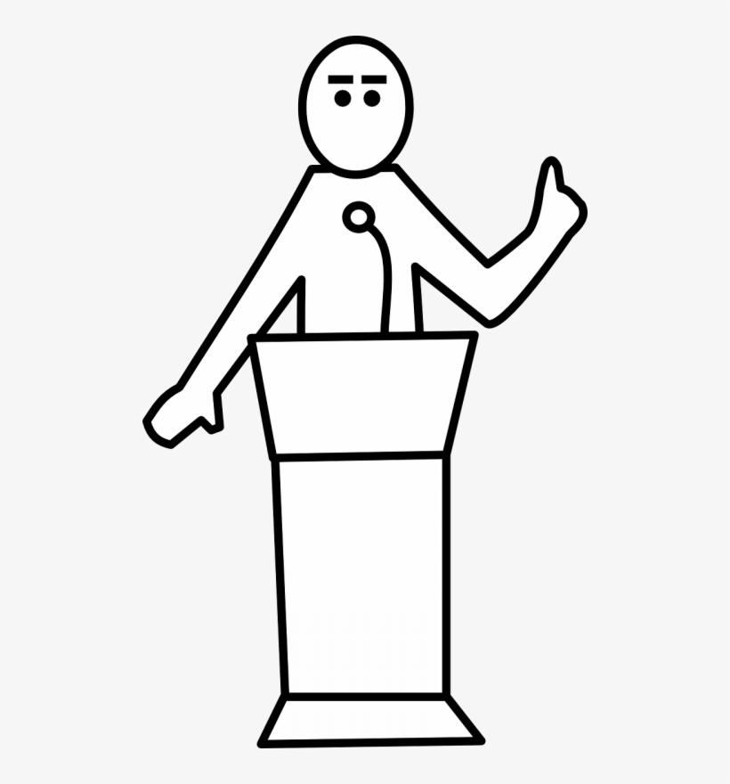 Public Speaking Clipart Black And White.