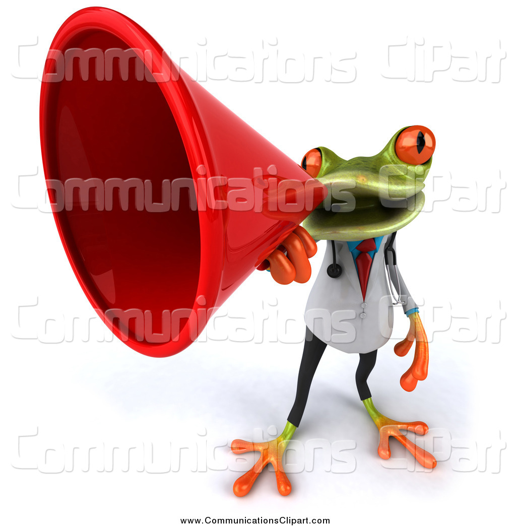 Royalty Free Speaking Trumpet Stock Communication Designs.