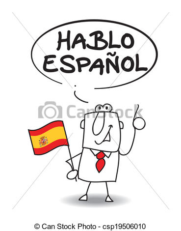 Speaking Spanish Clipart.
