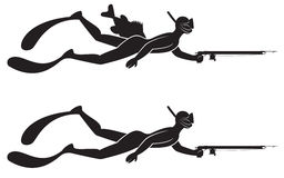 Spearfishing Stock Illustrations.