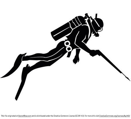Spear Fishing Clip Art, Vector Spear Fishing.