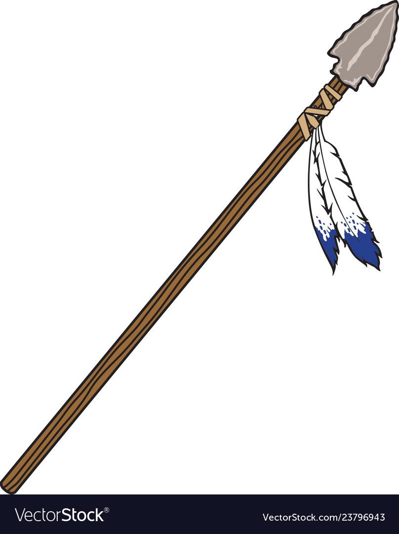 Spear logo mascot.