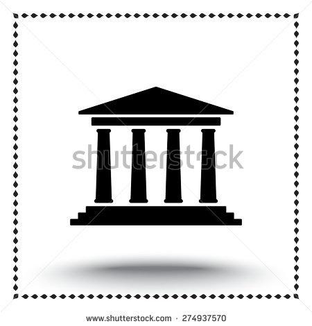 Greek Building Free Vector.