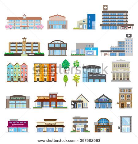 500+ Buildings Vectors.