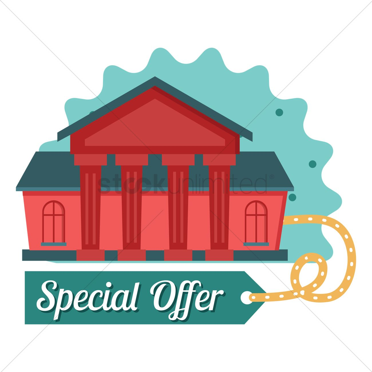 Special offer on home sale Vector Image.