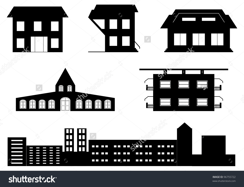 Vector Set Special Buildings Stock Vector 96755722.