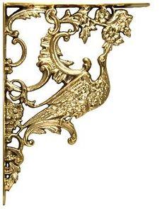 4 Inch Solid Brass Lost Cast Wax Lion Head Stair Rail Bracket.