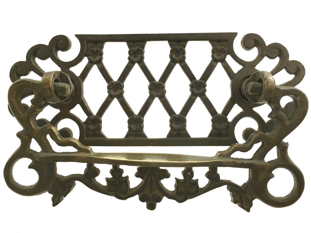 Cast Brass Victorian Drawer Pull.
