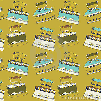 Illustration Of Cast Brass Clothes Iron Stock Image.