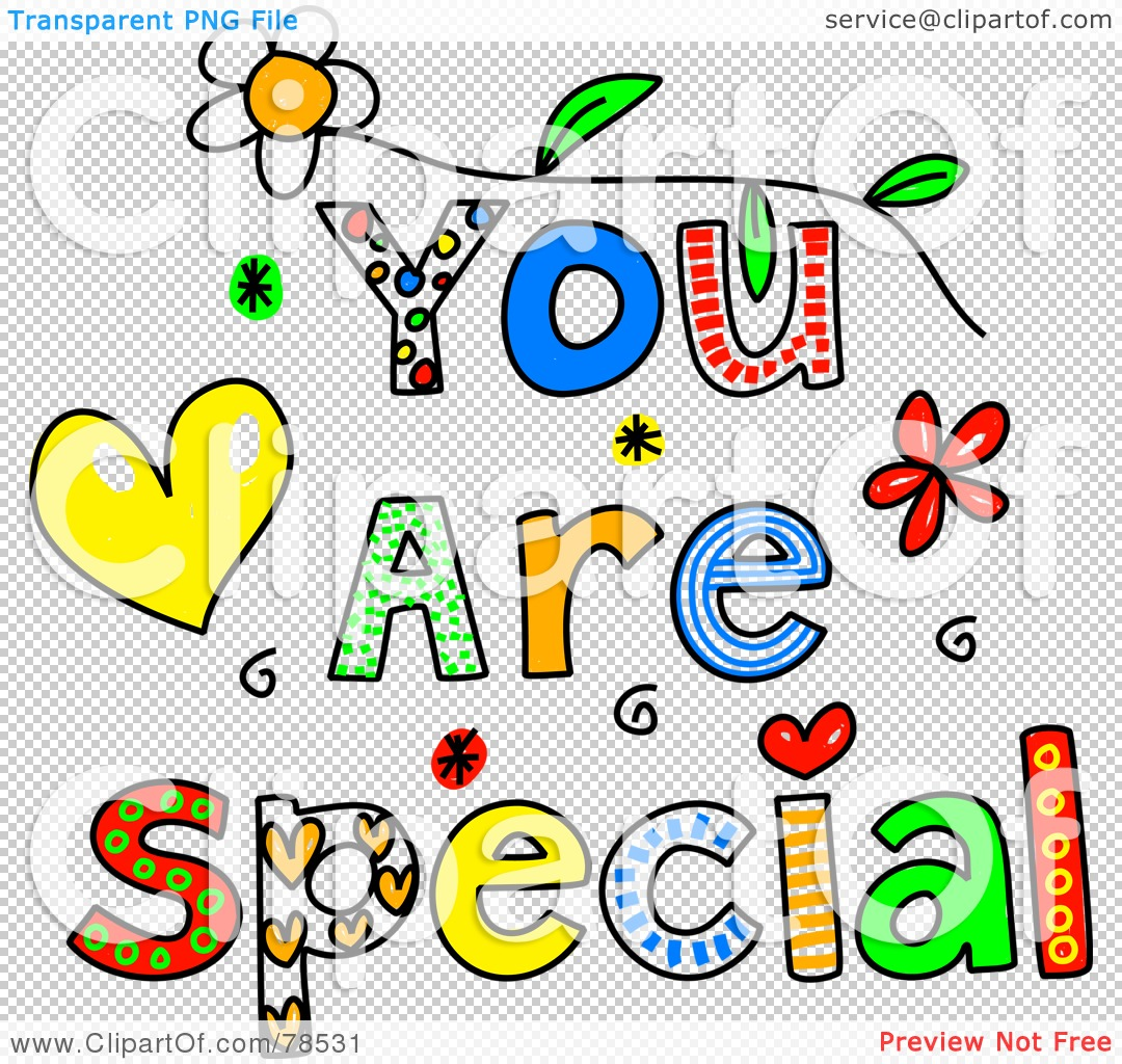 You Are Special Clip Art.