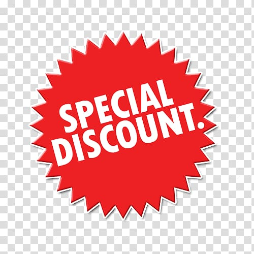 Red and white special discount icon, Special Discount Sign.