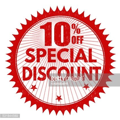 Special discount 10% off stamp Clipart Image.