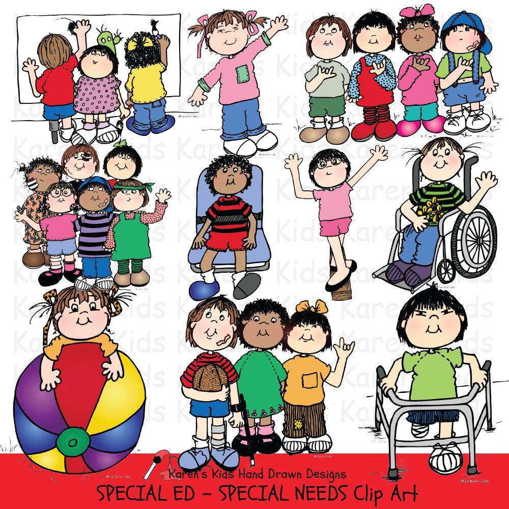 Clip Art Special Ed & Special Needs Kids.