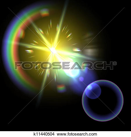 Clipart of Light flare special effect. vector illustration.