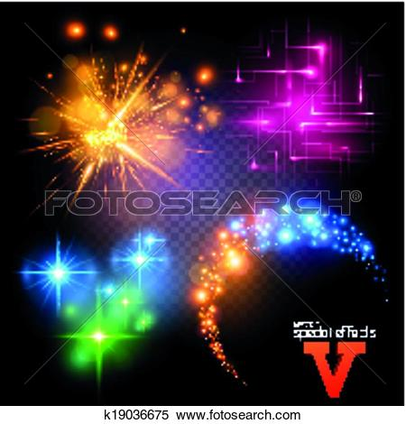 Clipart of Vector Special Effects Set 5 k19036675.