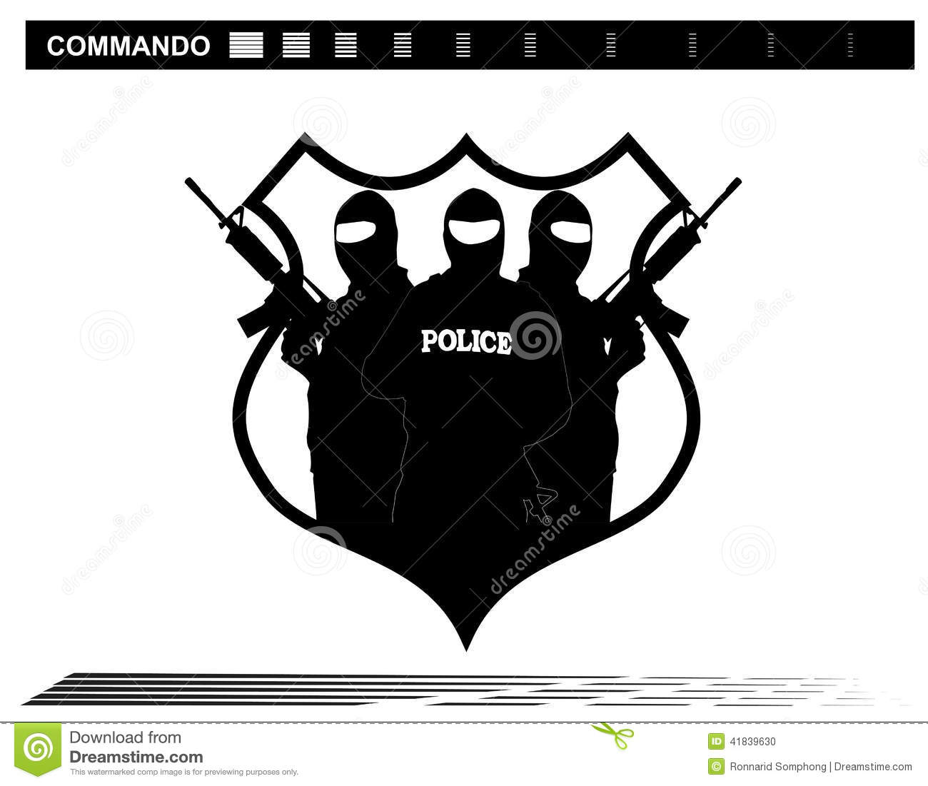Special Forces Team Clipart.