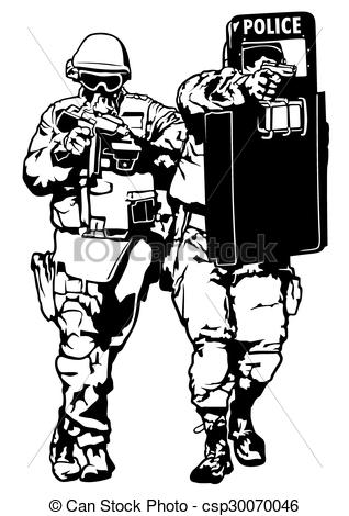 EPS Vector of Special Police Forces.