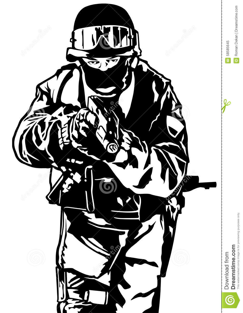 Special Police Forces Stock Vector.