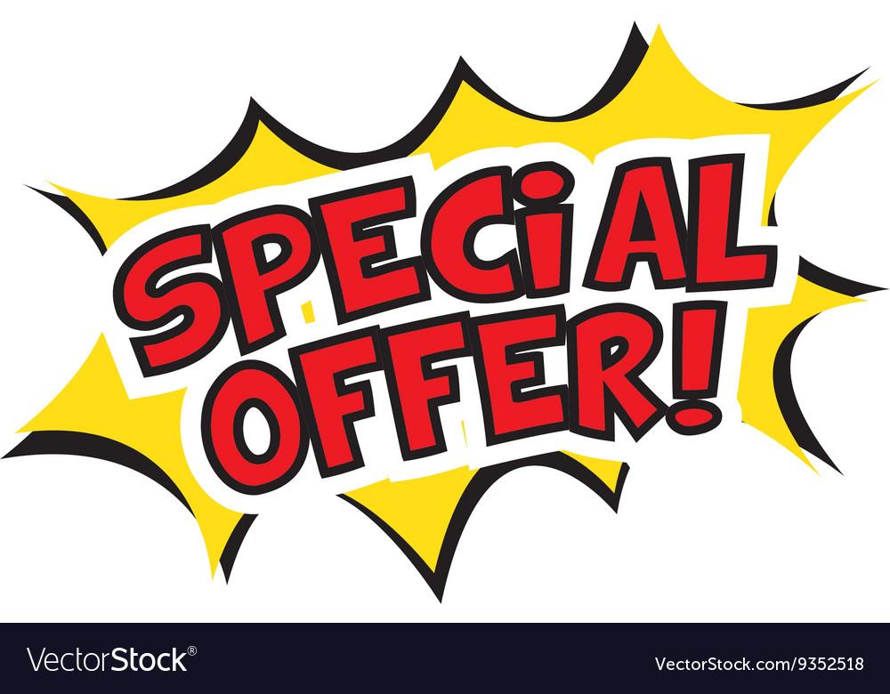 Special offer banner design.