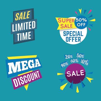 Sale limited offer banner set. Marketing special offer.