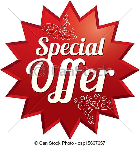 Clipart Vector of Special offer price tag (vector). Icon for sale.
