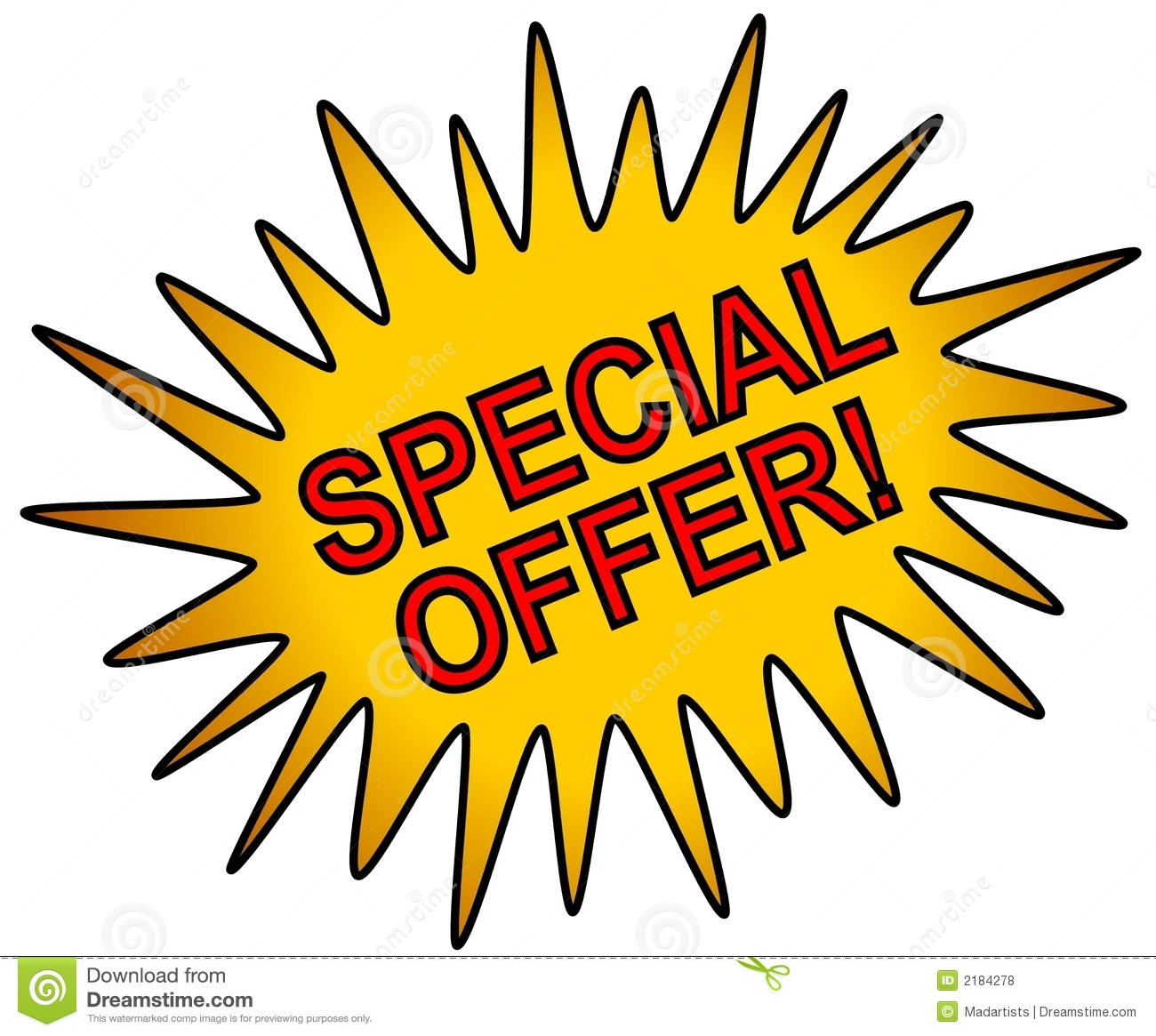 Special Deal Clipart.