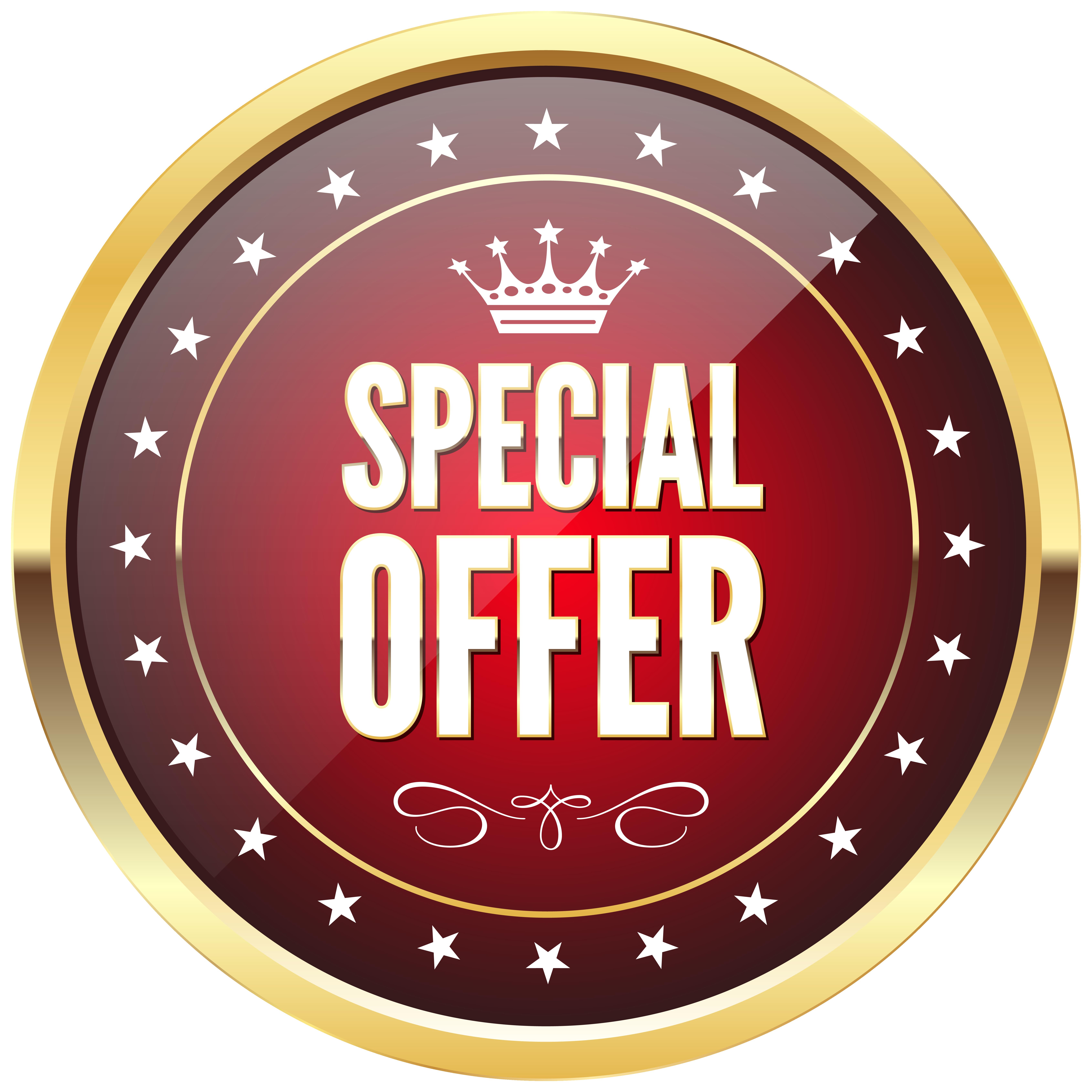 Special Offer Badge Transparent PNG Clip Art Image.