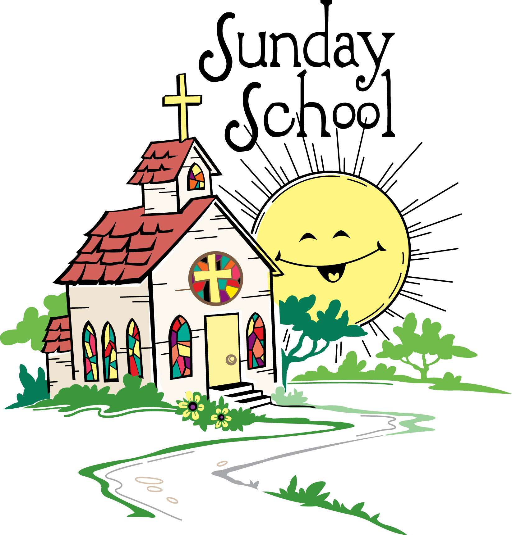 Sunday School Clipart Church.