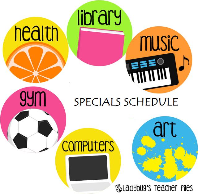 Clip Art School Specials Clipart.
