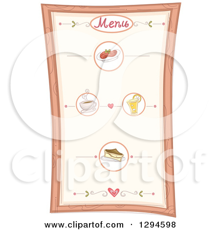 Clipart of a Menu Board with Specialties.