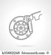 Brake shoe Clipart EPS Images. 137 brake shoe clip art vector.
