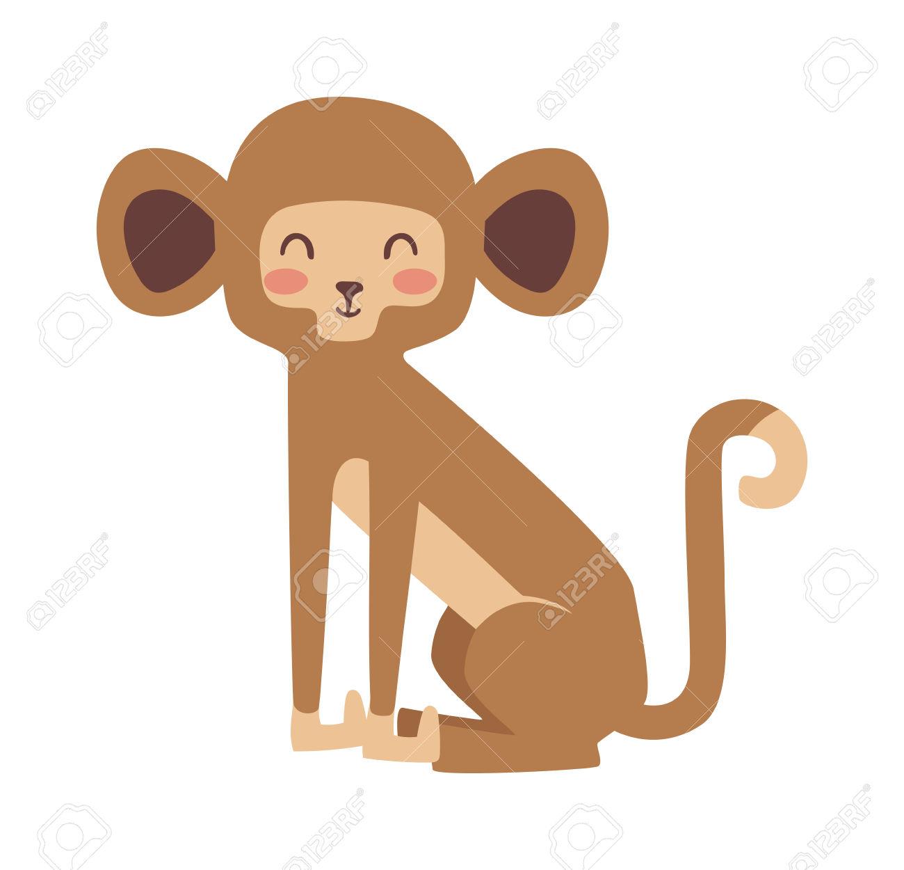 Cartoon Monkeys Vector Illustration. Monkey Vector And Jungle.