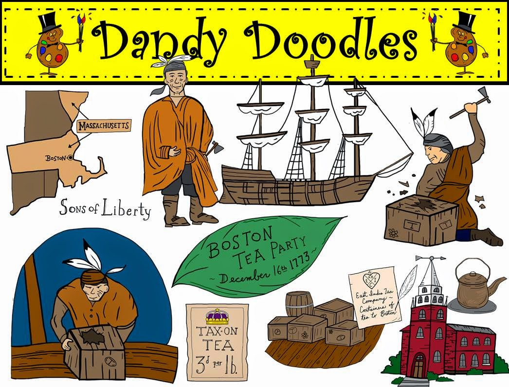 Boston Tea Party Clip Art: If your class studies the American.