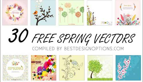 Plants Clip Art Graphics: 30 Flower and Leaves Vector Illustrations.