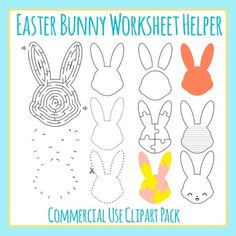 Easter Mazes Clip Art Set for Commercial Use.