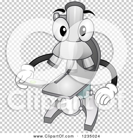 Clipart of a Microscope Mascot Holding a Specimen Slide.