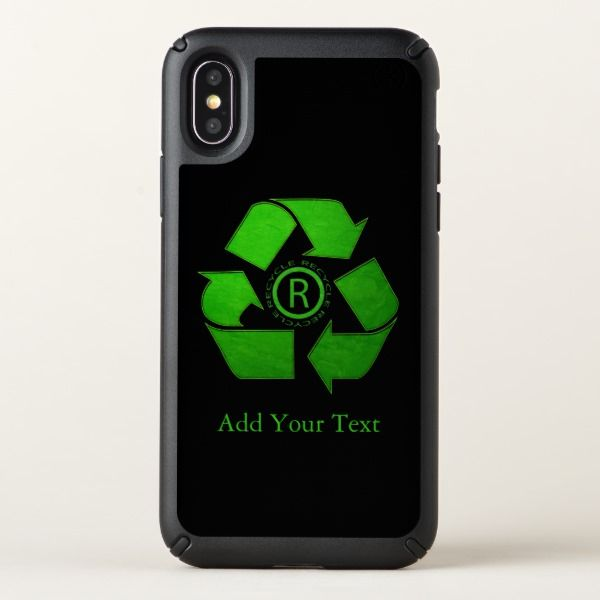 Recycle Logo by Shirley Taylor Speck iPhone Case.