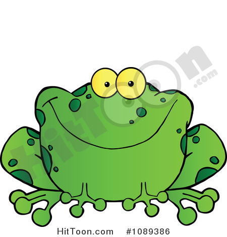 Speckled frog clipart.