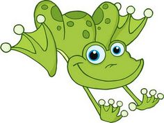 Green Speckled Frogs Clipart.