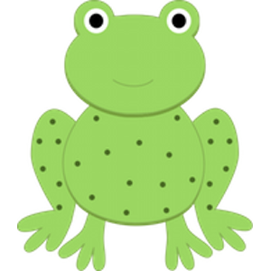 Speckled Frogs Clipart.