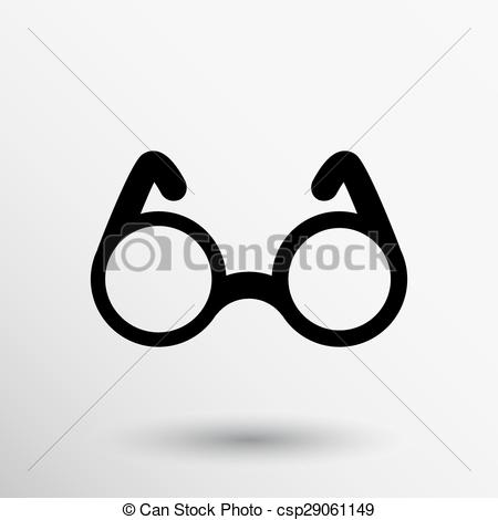 EPS Vector of Vector Round Glasses Icon Symbol vision specs.