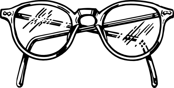 Spectacles clip art Free vector in Open office drawing svg ( .svg.