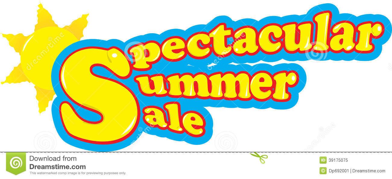 Spectacular Summer Sale Stock Illustration.