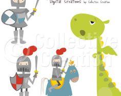 Little Knights Clip Art.